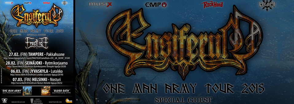 ENSIFERUM announces Finland dates!