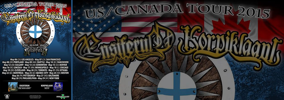 ENSIFERUM: Finnish Folk Metal Titans Announce North American Tour With Korpiklaani