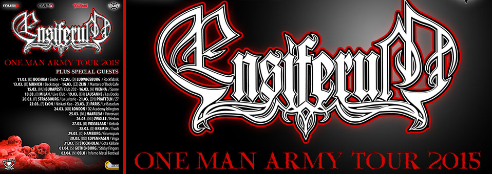 "ENSIFERUM announces ""One Man Army"" European tour for March 2015!"