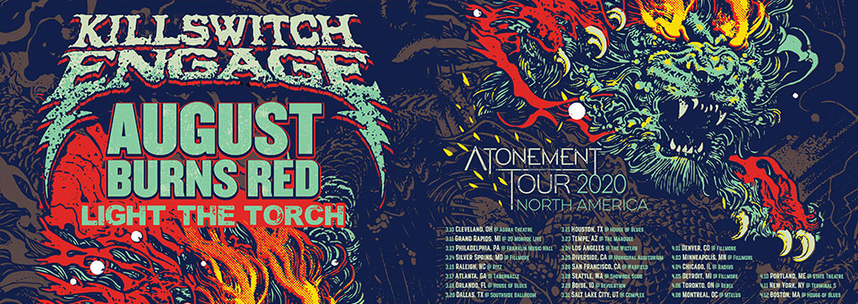 Killswitch Engage announces Light The Torch as opening act for headline Spring 2020 tour