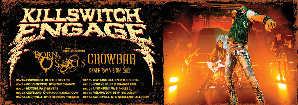 Killswitch Engage announces rescheduled USA tour dates for November/December