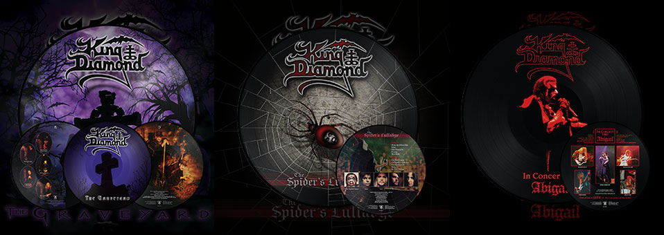 King Diamond: 'In Concert 1987: Abigail', 'The Graveyard', 'The Spider's Lullabye' LP re-issues now available via Metal Blade Records