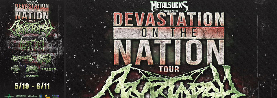 "Rivers of Nihil to kick off ""Devastation On The Nation"" USA tour with Cryptopsy, Decrepit Birth and more tomorrow"