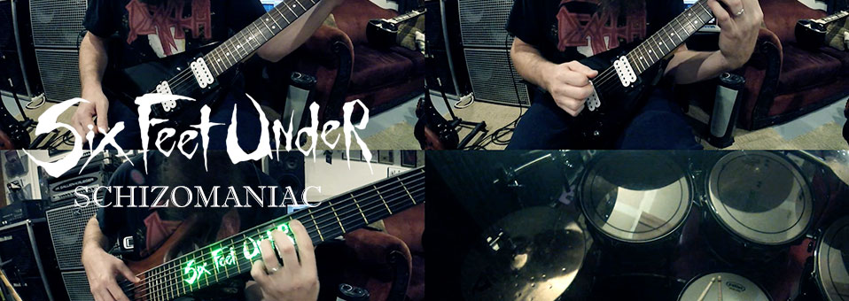 "Six Feet Under launches band play-through video for new track, ""Schizomaniac"""