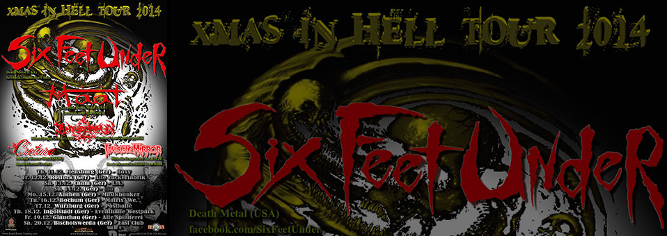"SIX FEET UNDER to embark on ""X-Mas In Hell Tour 2014″ in Germany in December!"