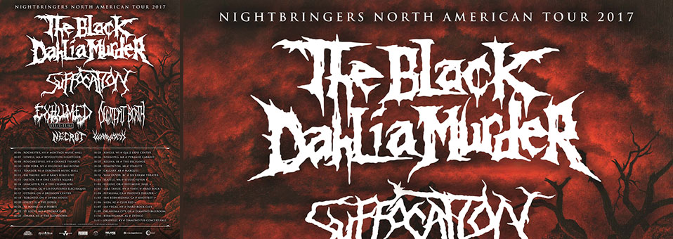 The Black Dahlia Murder announces North American tour with Suffocation, Decrepit Birth, Necrot, Wormwitch