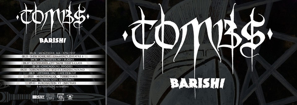 Tombs announces North American tour dates with Barishi