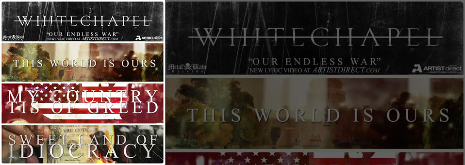 "WHITECHAPEL Premiere Lyric Video For Title Track ""Our Endless War"" on Artist Direct"