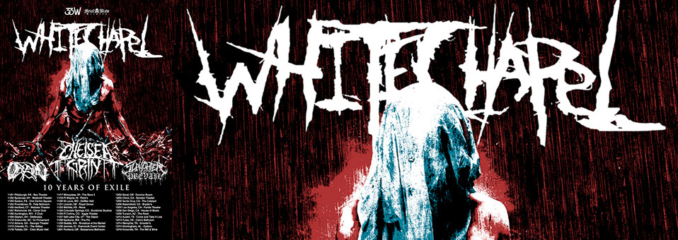"Whitechapel announces ""Ten Years of Exile"" USA tour with Chelsea Grin, Oceano, Slaughter To Prevail"