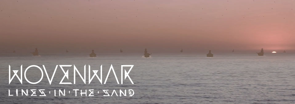 "Wovenwar premieres video for new single, ""Lines In The Sand"", via Billboard.com"