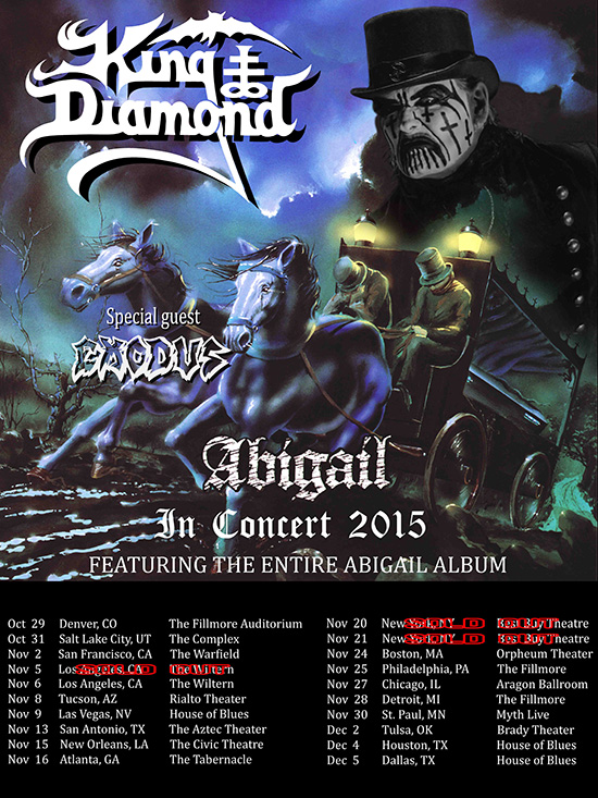 King Diamond To Film Feature Length Video On The Abigail