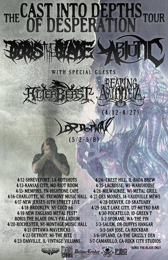 abiotic announce the cast into depths of desperation tour with