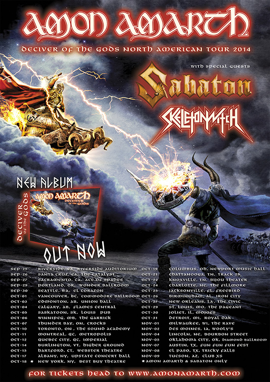 amon amarth to return to north america this fall with