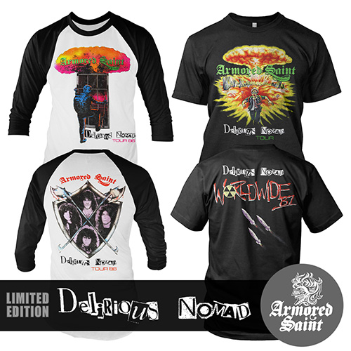 new armored saint �delirious nomad� retro shirts available