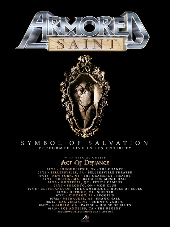 Armored Saint Announces North American Tour Featuring Symbol Of