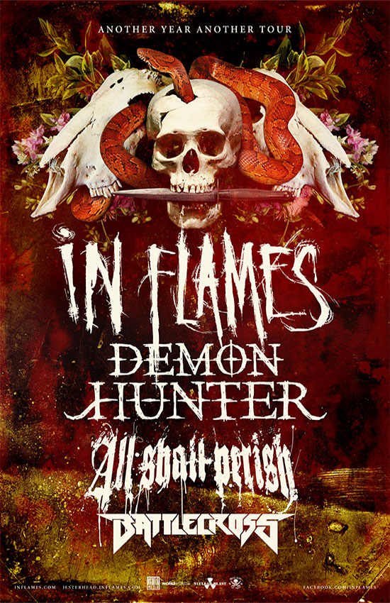 BATTLECROSS, In Flames, Demon Hunter, All Shall Perish
