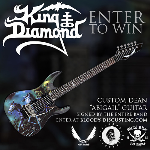 Enter To Win A Custom King Diamond Abigail Guitar Metal Blade Records