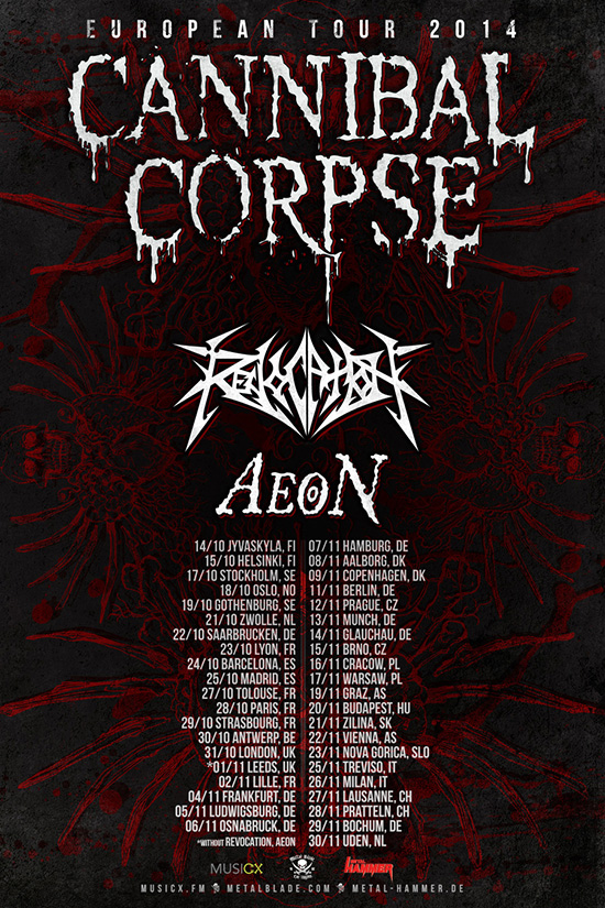 Photo zu 11.11.14: Cannibal Corpse, Revocation, Aeon - Berlin - C-Club