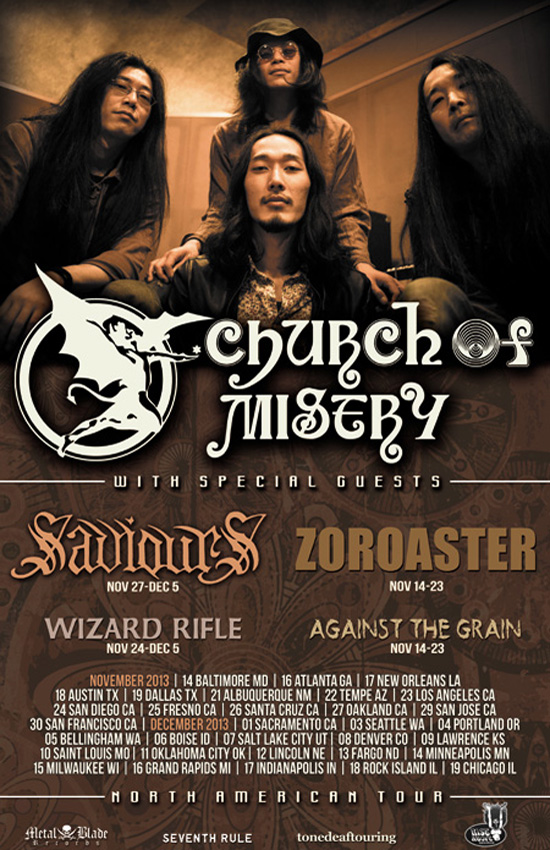 CHURCH OF MISERY announce updated North American tour dates