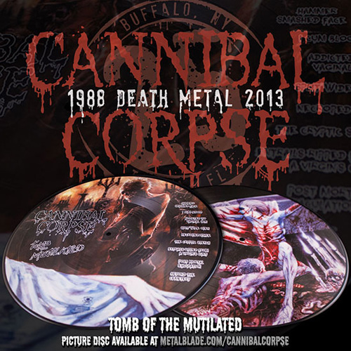 Cannibal Corpse Tomb Of The Mutilated Picture Disc