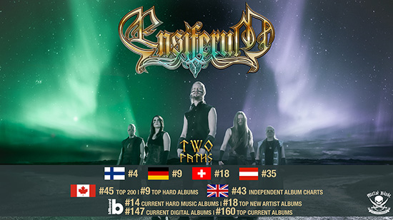 Ensiferum enters worldwide charts for new album, 'Two Paths