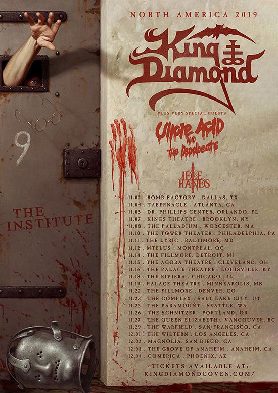 Diamond Tours 2020 Schedule King Diamond announces North American tour dates with Uncle Acid
