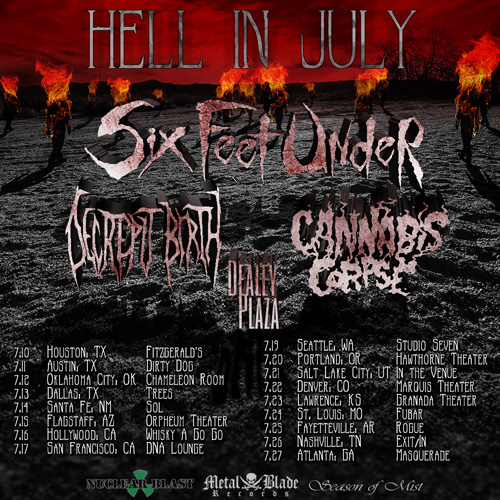 Six Feet Under Announce In July Tour