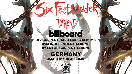 Six Feet Under enters worldwide charts for new album