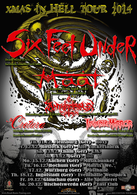 Six Feet Under To Embark On X Mas In Tour 2014 E2 80 B3 In Germany In December