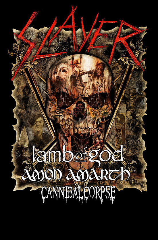 Slayer Tour 2019 Cannibal Corpse announces North American tour dates with Slayer