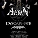 Aeon UK/Ireland headline tour confirmed with support from Dyscarnate and Ageless Oblivion