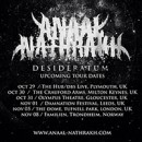 ANAAL NATHRAKH announce dates in November 2014