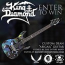 "Enter to win a custom King Diamond ""Abigail"" guitar"
