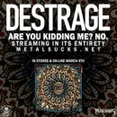 "DESTRAGE Streaming New Album ""Are You Kidding Me? No."" on Metal Sucks"