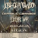 """JOB FOR A COWBOY announce final line up for """"The End of the World"""" December tour; presented by Modern Rebellion"""