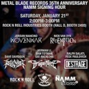 Metal Blade Records announces artist signing hour at NAMM 2017