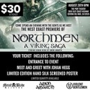 Northmen: A Viking Saga moving screening August 26th in Corona del Mar, CA with Johan Hegg!