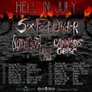 SIX FEET UNDER add opening band, launch VIP bundles for the Hell in July tour