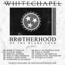 "Whitechapel plots ""Brotherhood of the Blade Tour"" for March!"